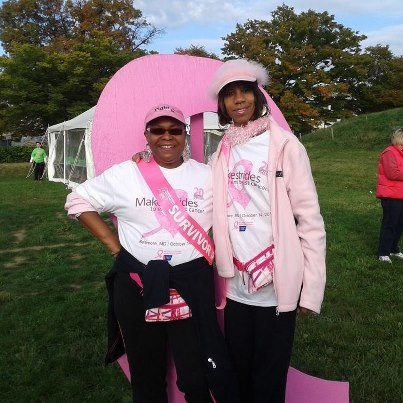 This picture is from the American Cancer Society's Making Strides Against breast cancer walk that took place on Sunday, October 14th.